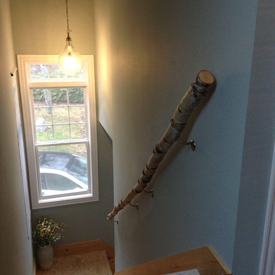 Best White Birch Handrail Handrail Decor Cottage 400 x 300