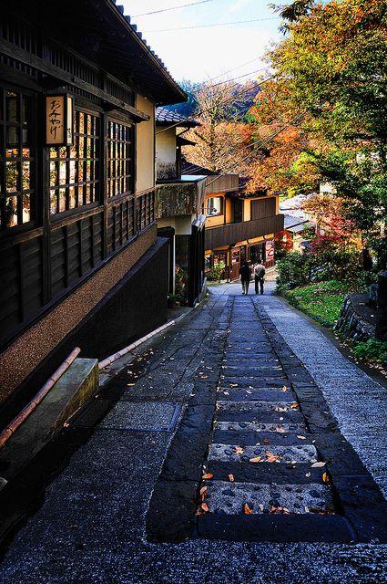 The quaint neighbourhood of Kurokawa, Japan