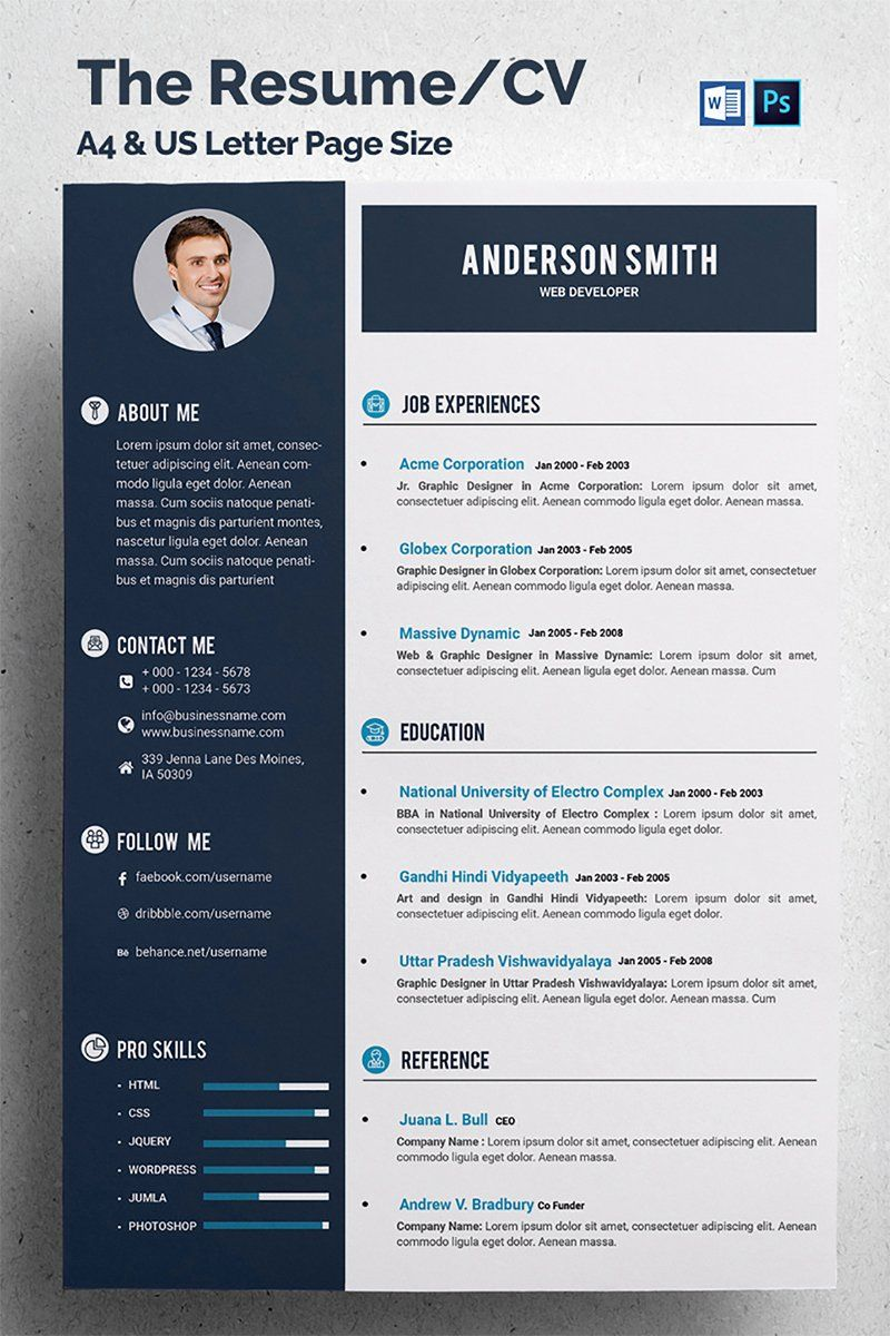 Web Developer Resume Template Elegant Web Developer Cv Resume Template Cv Kreatif Desain Cv Desain Resume