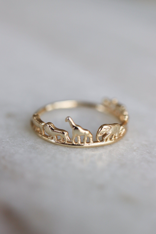 Photo of Dyresafariring, lækker guld elefant giraff løve næsehorn stabling ring, afrik…