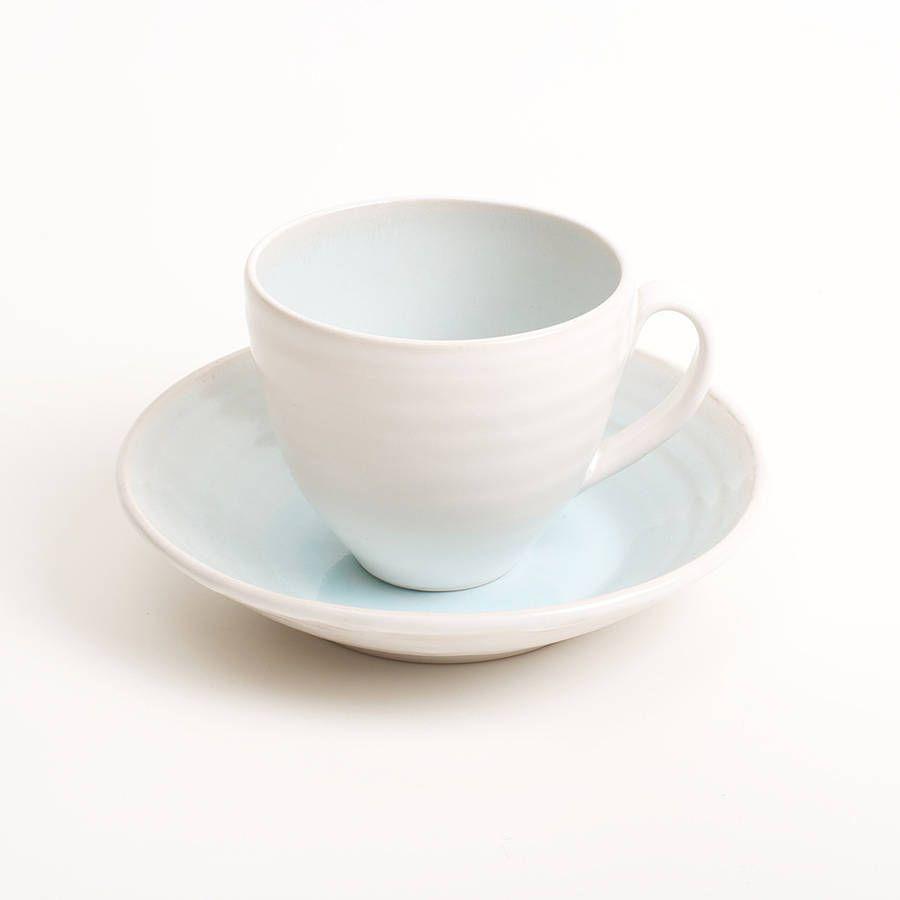 Linda Bloomfield  http://www.notonthehighstreet.com/lindabloomfield/product/cafe-stoneware-cup-and-saucer