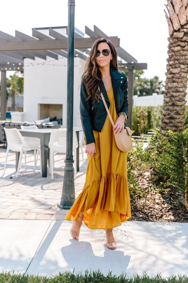 Affordable Transitional Summer To Fall Outfit Under 50 Alyson Haley Jacket Outfit Women Fashion Biker Jacket Outfit Women [ 1114 x 742 Pixel ]