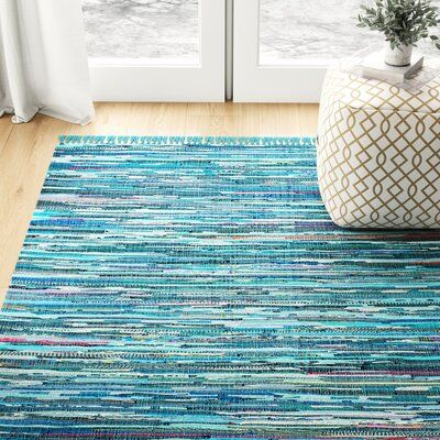 Meila Cotton Blue Area Rug | Joss & Main