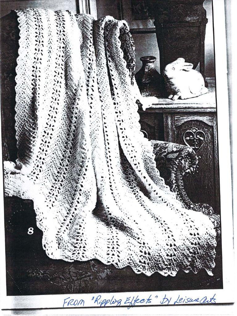Grandma\'s Lacy Ripple Crochet Pattern | Crochet | Pinterest | Bonito ...