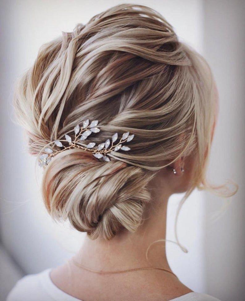 Bridal Hair Vine Bridal Hair Accessories Blue Opal Bridal Hair Etsy In 2020 Bridal Hair Vine Wedding Hair Pieces Medium Length Hair Styles