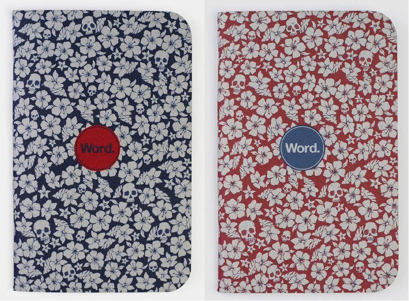 Word. notebooks via happymundane.com