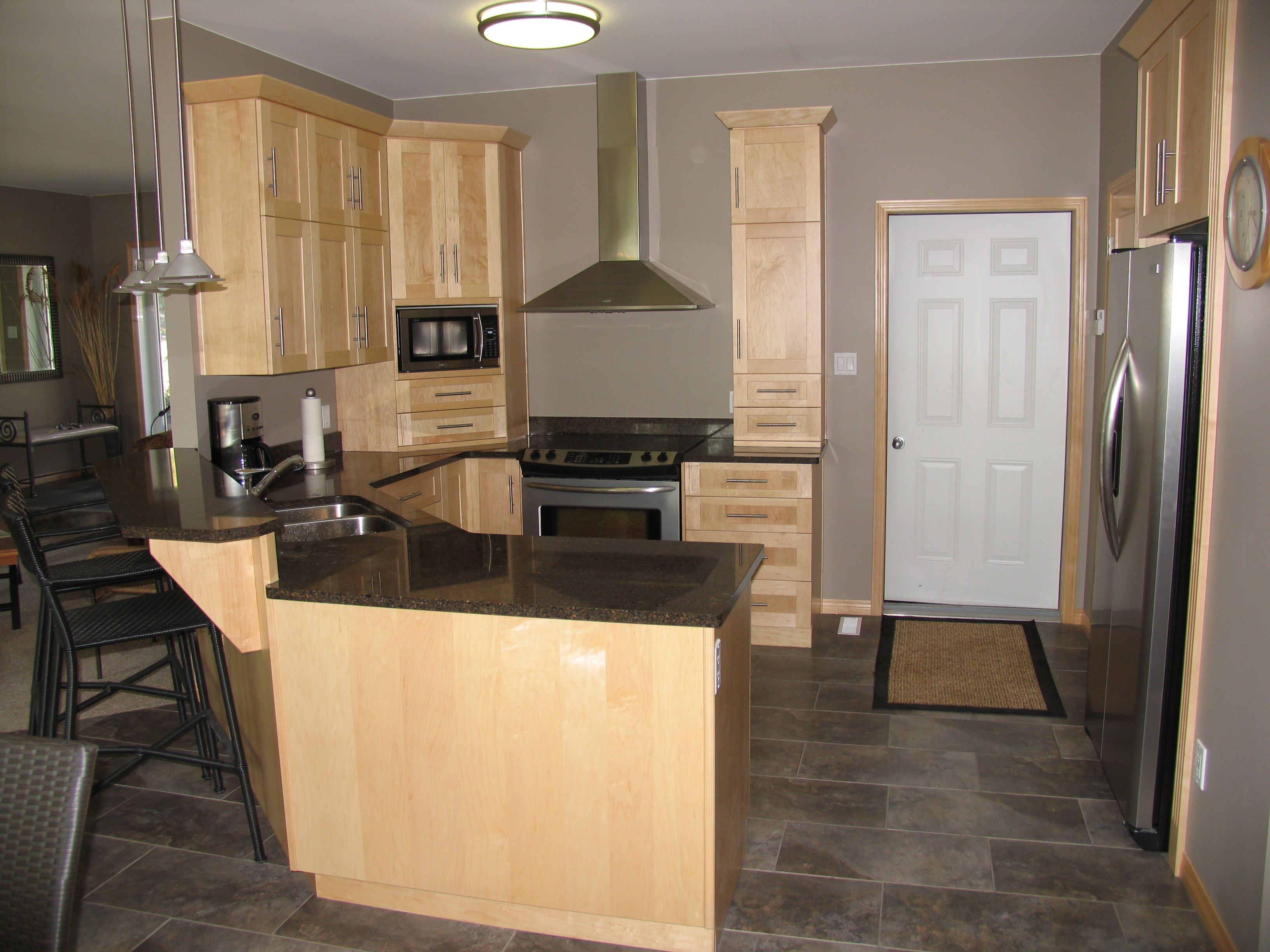 Cabinets: Maple - Natural / Countertops: Cambrian Quartz ... on Natural Maple Cabinets With Quartz Countertops  id=12553