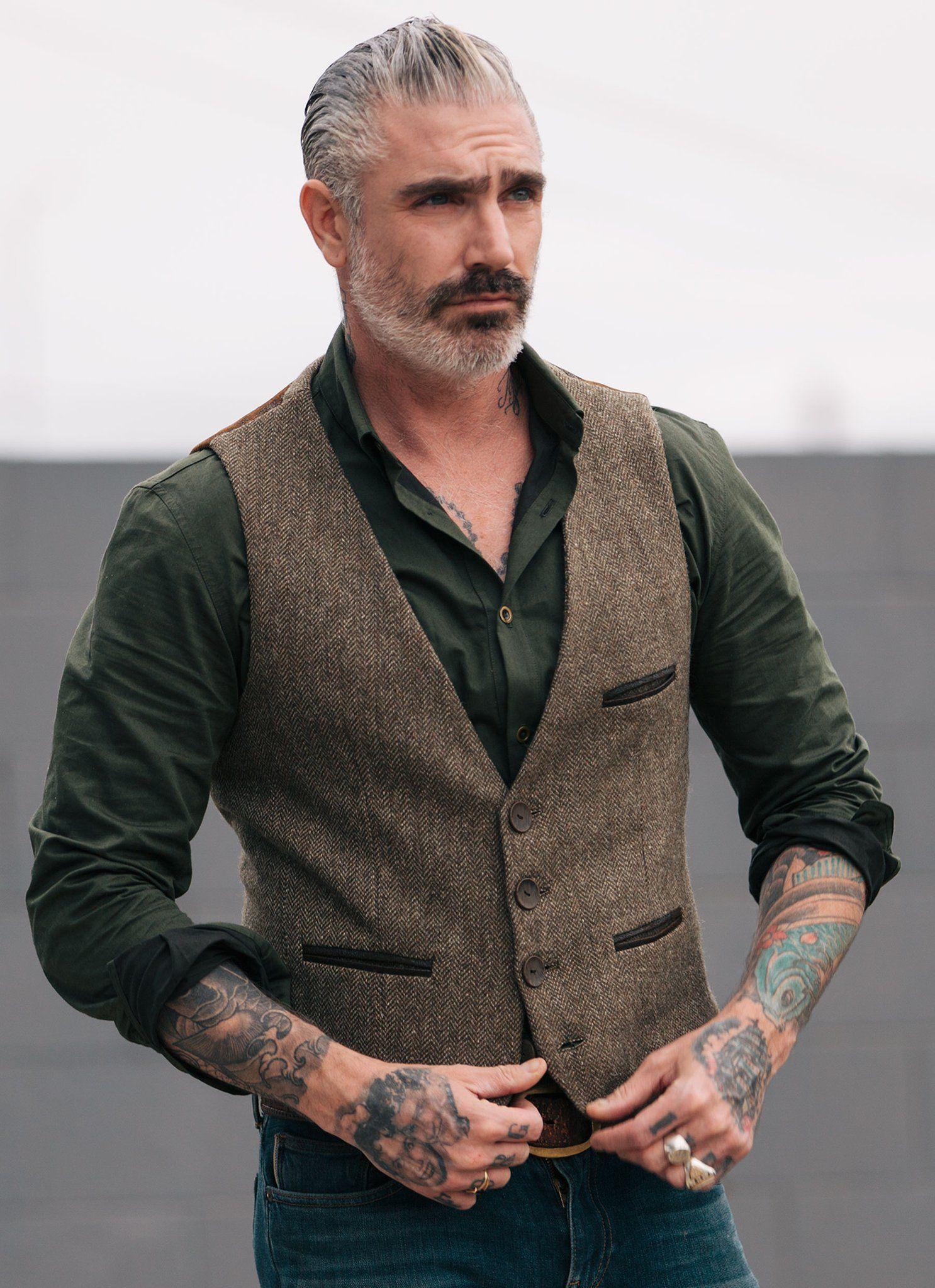Fairfax Tweed Waistcoat Mens Vest Fashion Older Mens Fashion Mens Fashion Cardigan
