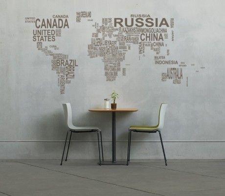 vinil | mapa mundo