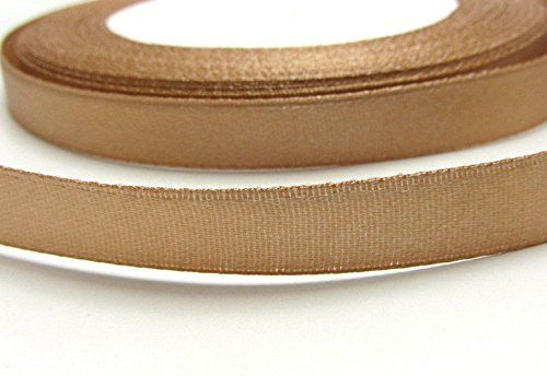 3/8' Light Coffee 10mm(1roll) 25yards 100% Polyester Satin Ribbon Wedding Party Good Crafted DIY Ideas -- Read more at the image link.