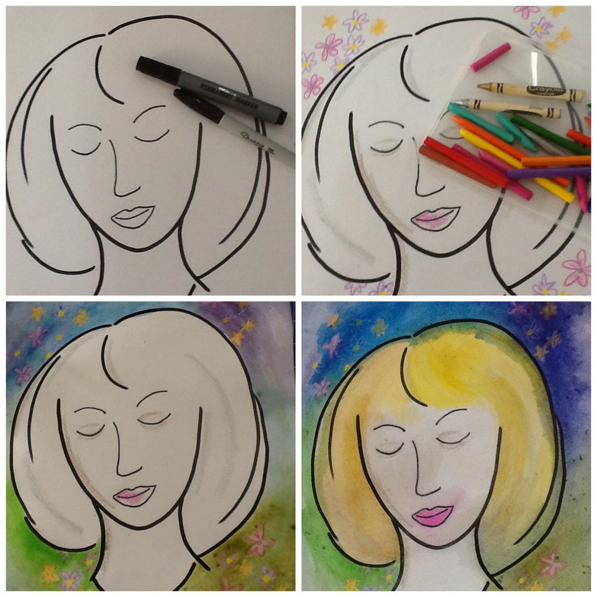 Art Therapy Activity Draw Yourself In A Happy Place Space