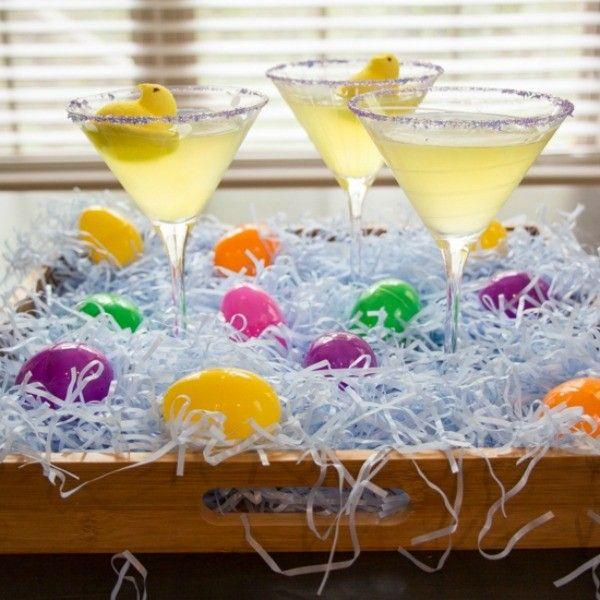 Peeps lemon drop martini