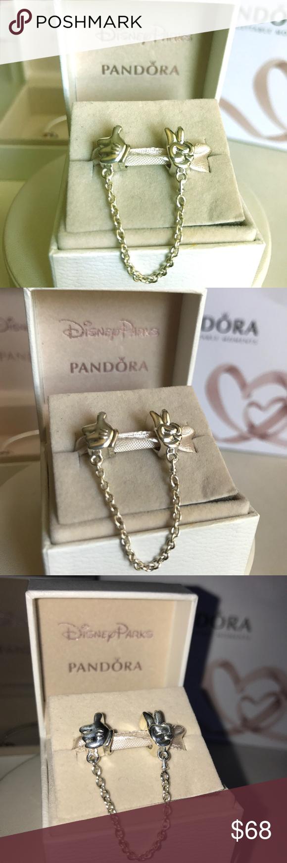 Pandora Disney Mickey Gestures Safety Chain Pandora