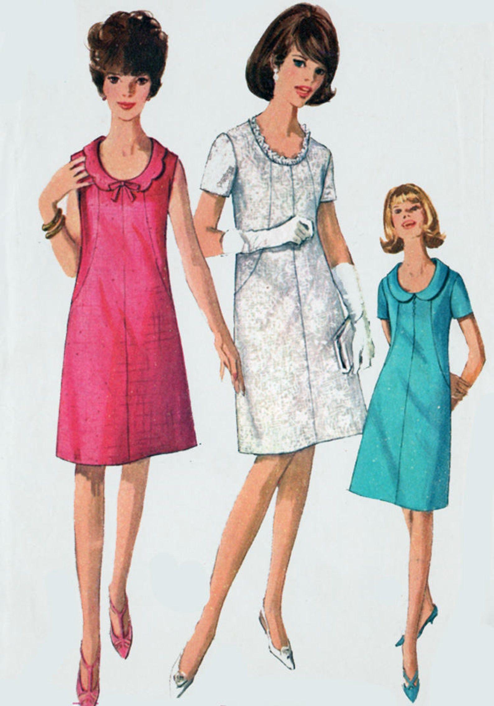 Vintage 60s Mod A Line Shift Dress With Scooped Neckline Etsy Mod Dress Pattern Sewing Pattern Sizes Shift Dress [ 2270 x 1588 Pixel ]