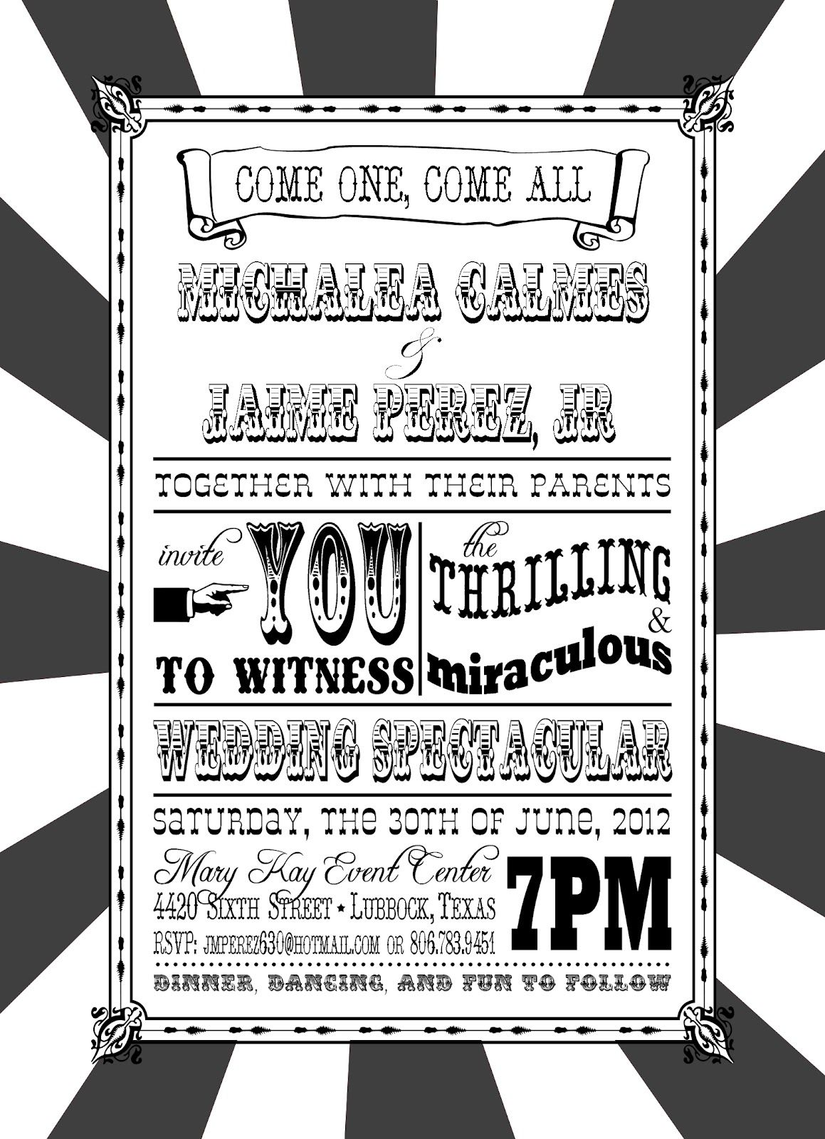 You\'re Invited: Circus-Themed Wedding Invitation | wedding ...