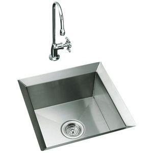 Kohler K3161 NA Poise Undermount Bar Sink   Stainless Steel