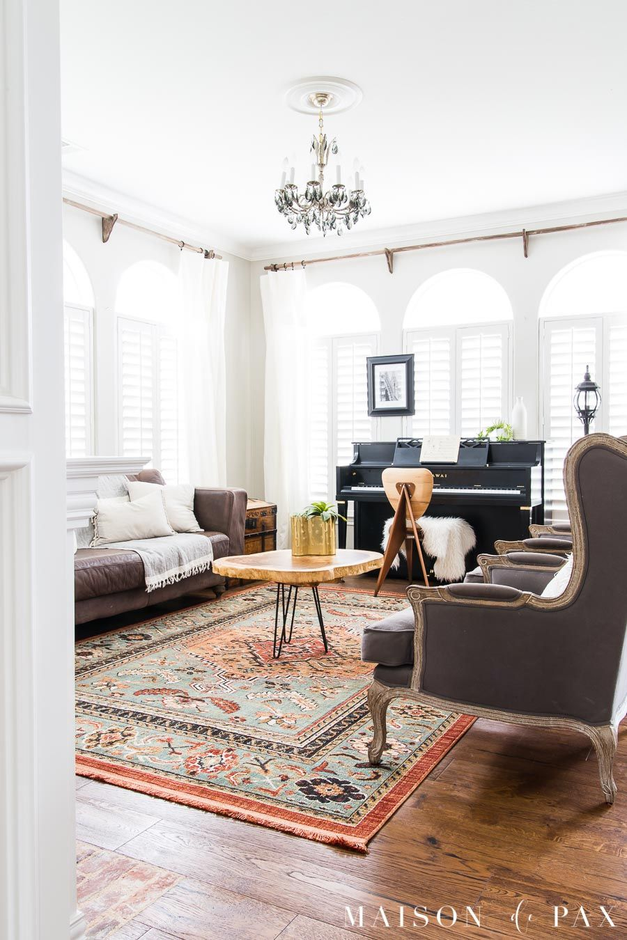 Redecorate My Living Room: Eclectic Living Room With Colorful, Neutral, And Vintage