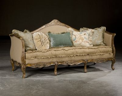 High End French Kitchens Country Rustic Sofa Furniture Upholstered