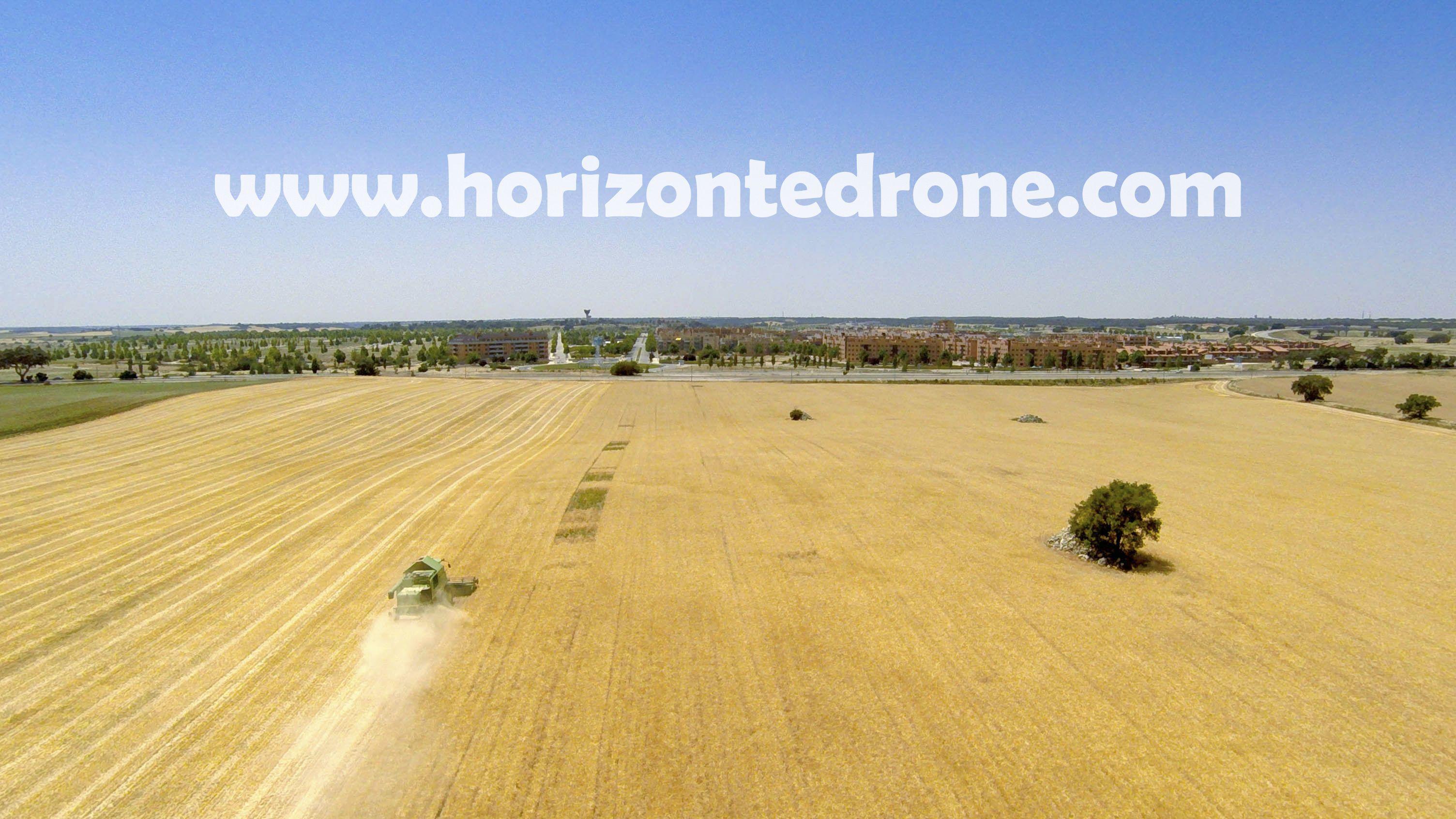 La #cosecha a vista de #drone
