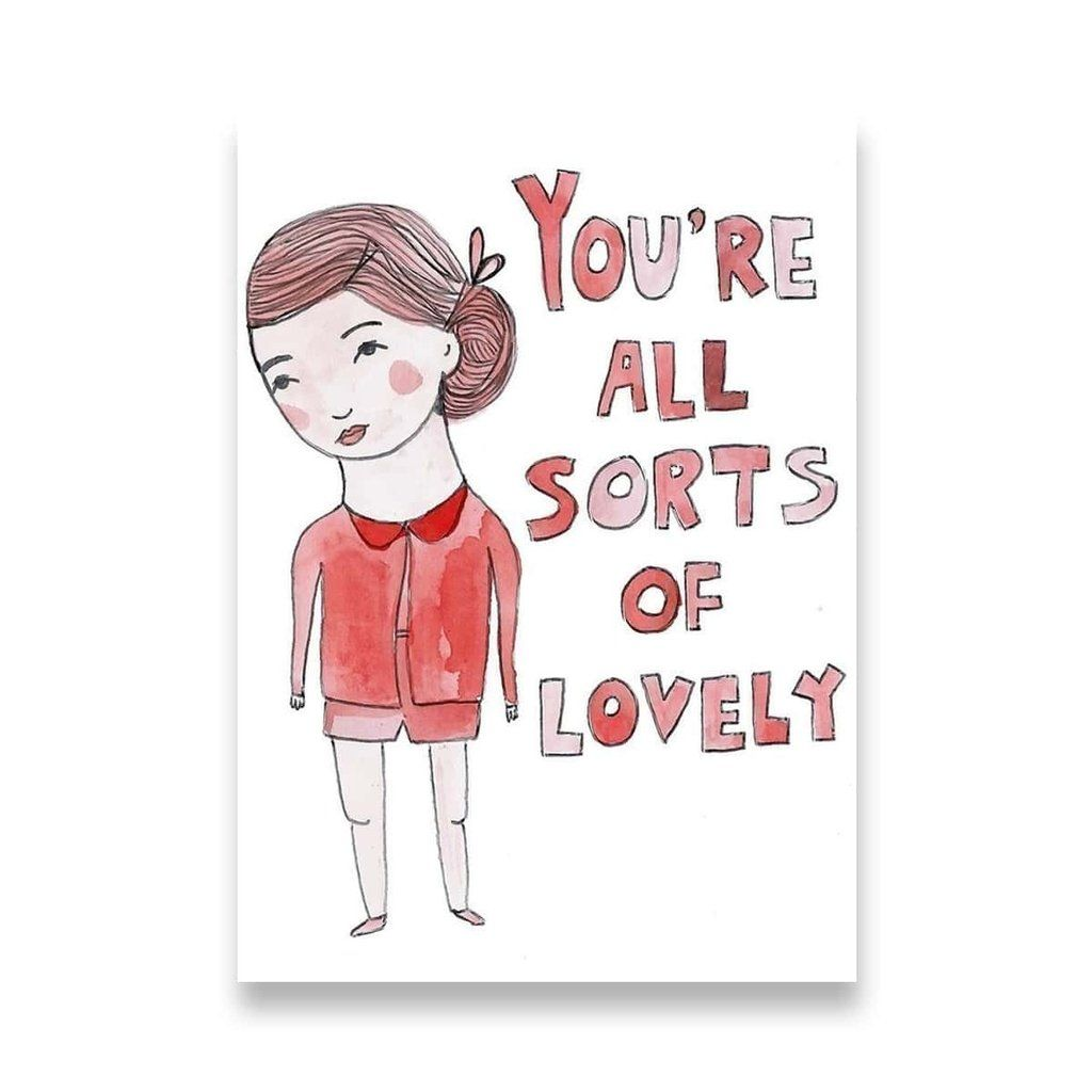 All Sorts Of Lovely Greeting Card By Able And Game Stationery Love