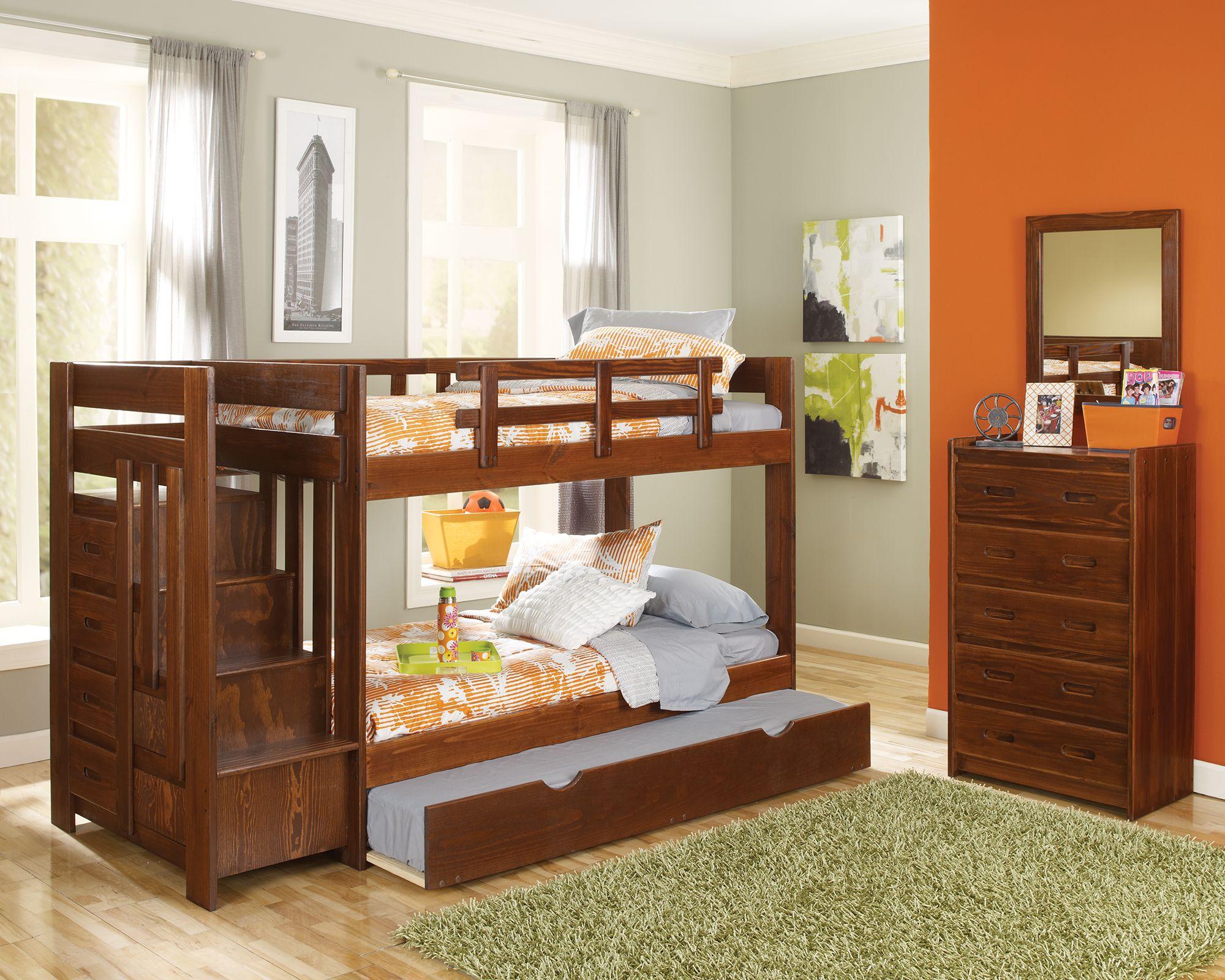 Xsth154 Woodcrest Stair Step Bunk Bed Daniesl Bunk Beds Bunk