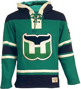 Old Time Hockey Hartford Whalers Home Lace Hooded Sweatshirt  b25fe806b