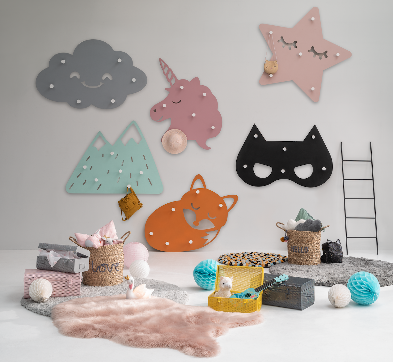 Patere Murale Xl Ully Masque Decoration Chambre Enfant Meuble Enfant Meuble Gifi Decoration Chambre Enfant Pateres Murale Meuble Enfant
