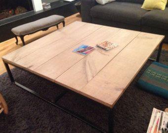 Wooden Coffee Table salvaged Butcher Block Barn di TheWhiteShanty