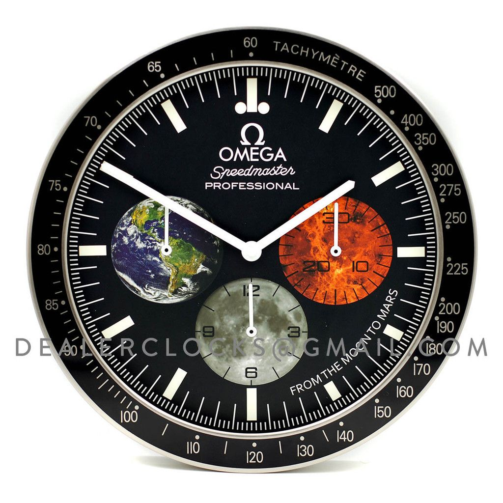 Omega Dealer Display Wall Clock Based On The Speedmaster Moonwatch