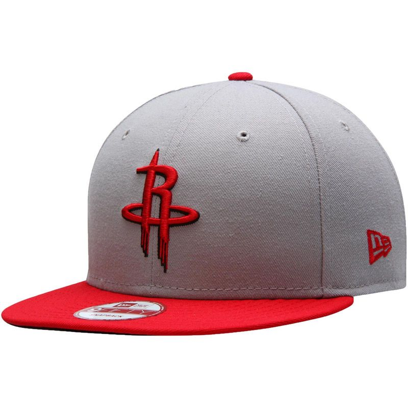 new style be834 c0055 Houston Rockets New Era Team 9FIFTY Snapback Adjustable Hat – Gray