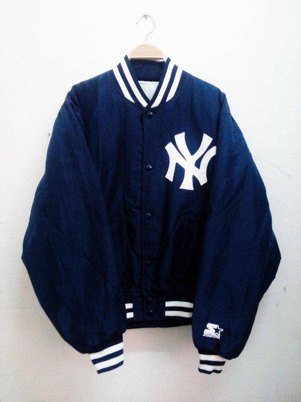 98d334a97 Vintage Starter Diamond Collection New York Yankees Nylon Varsity Jacket by  MalayaTriftZone on Etsy