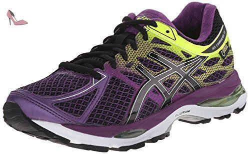 Asics Gel-Cumulus 17, Chaussures de Running Compétition Femme - Jaune (Flash Yellow/Acai/Jasmin Green 0733), 37 EU