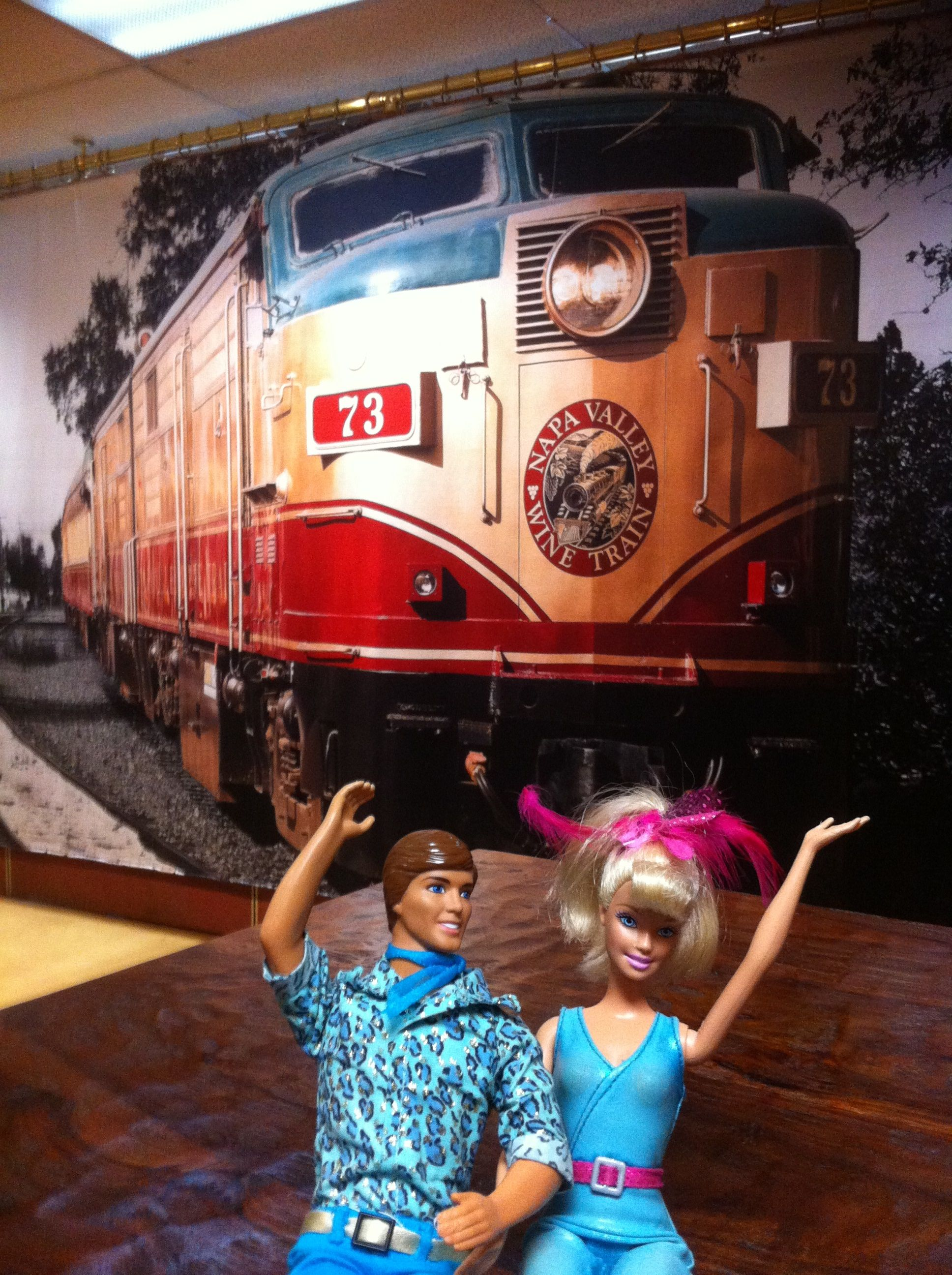 Napa California Wine Train Wine Train Napa California Barbie And Ken