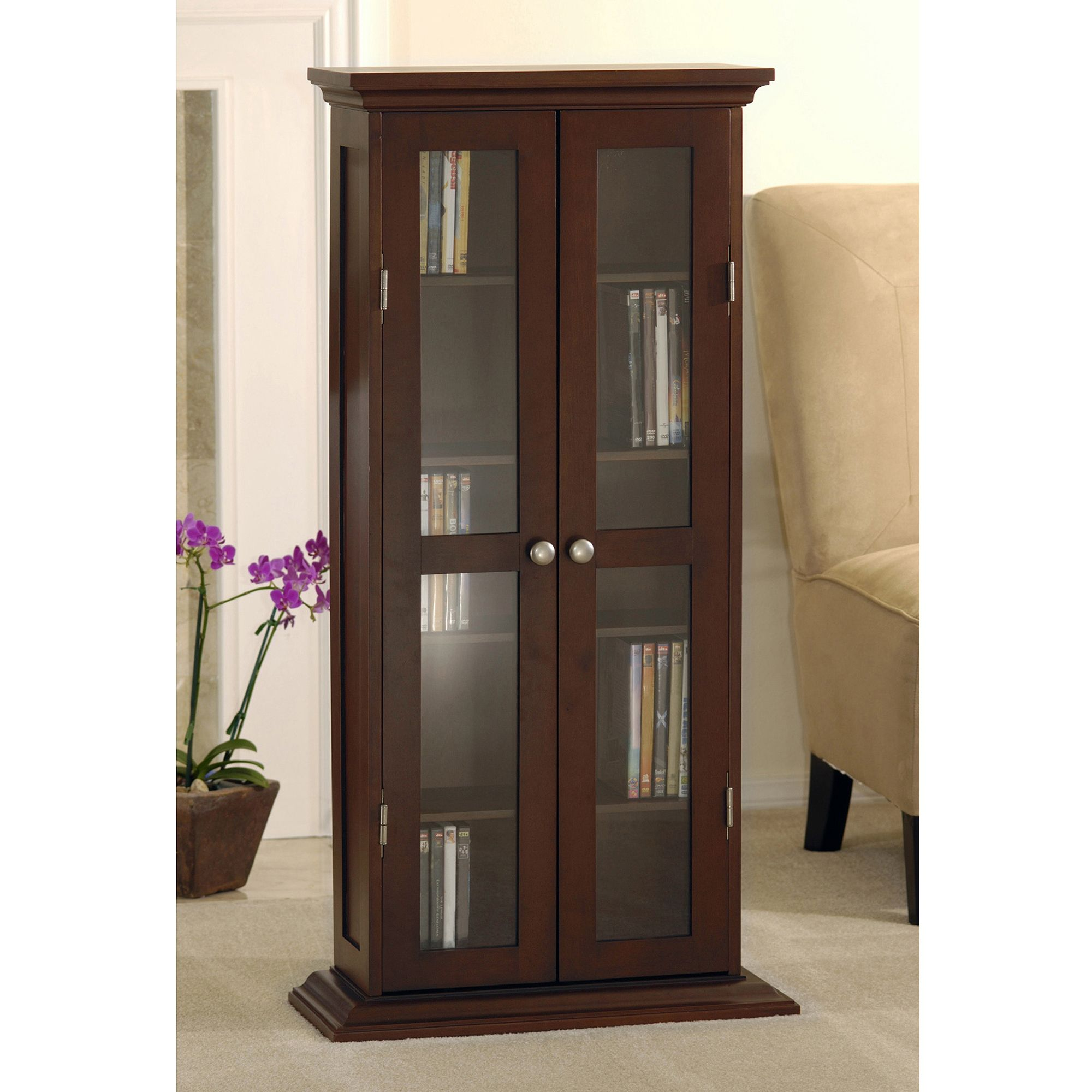 Cd Media Storage Cabinet With Glass Doors Httpbetdaffaires