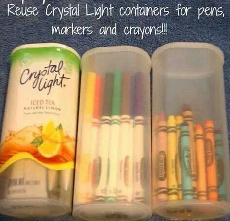 Holds markers & crayons