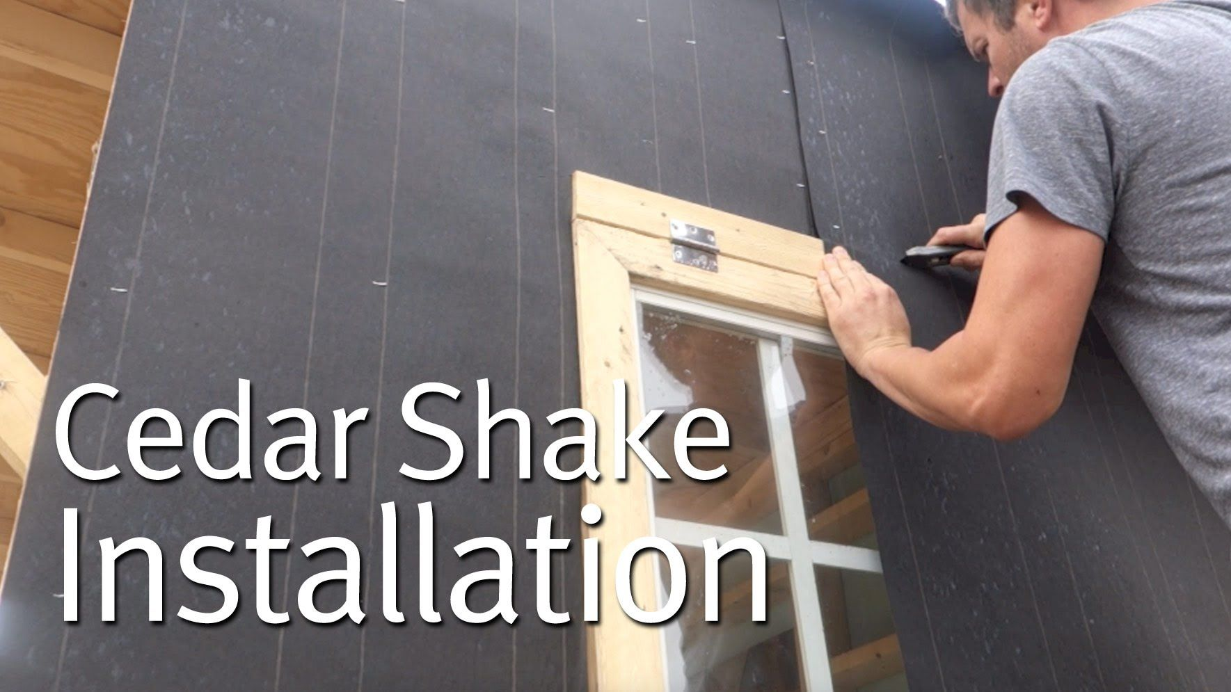 Best Simple Cedar Shake Siding Installation Tiny Homes 400 x 300