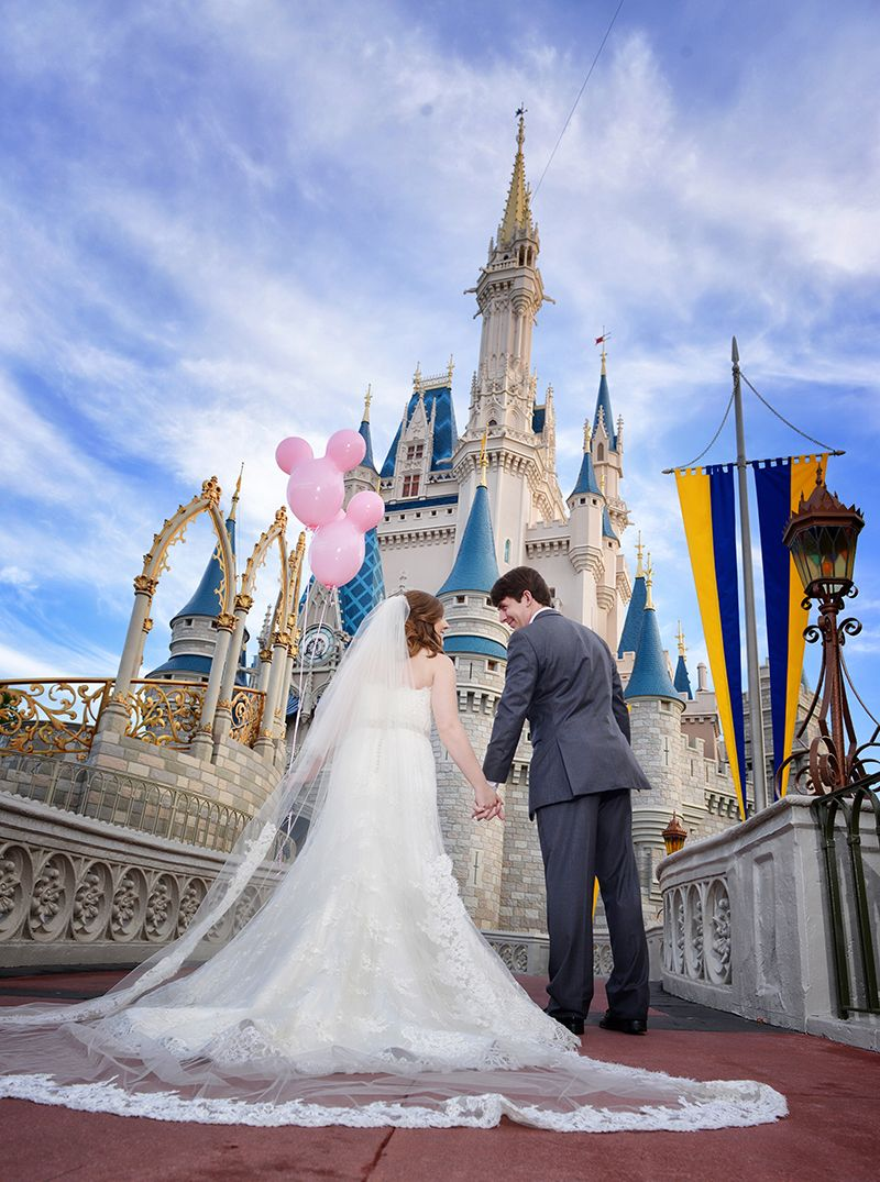 Amy and Blake created their own fairy tale moment at