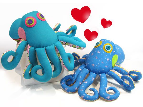 Ozzie Octopus Stuffed Toy Sewing Pattern.   Toys   Pinterest ...
