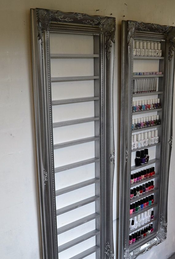 Nail Polish Display Rack Silver Pewter Space By