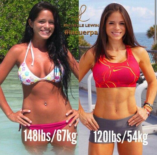 Antes Y Después La Constancia Y Dedicación Al Deporte Michelle Lewin Inspiración Entrenamiento Fitness