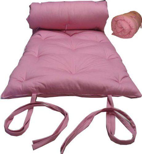 Brand New Pink Traditional Japanese Floor Futon Mattresses Foldable Cushion Mats Yoga Meditaion