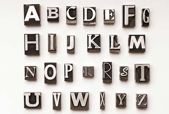 Print Block Letters Like The Idea Of An Image Incorporating Print