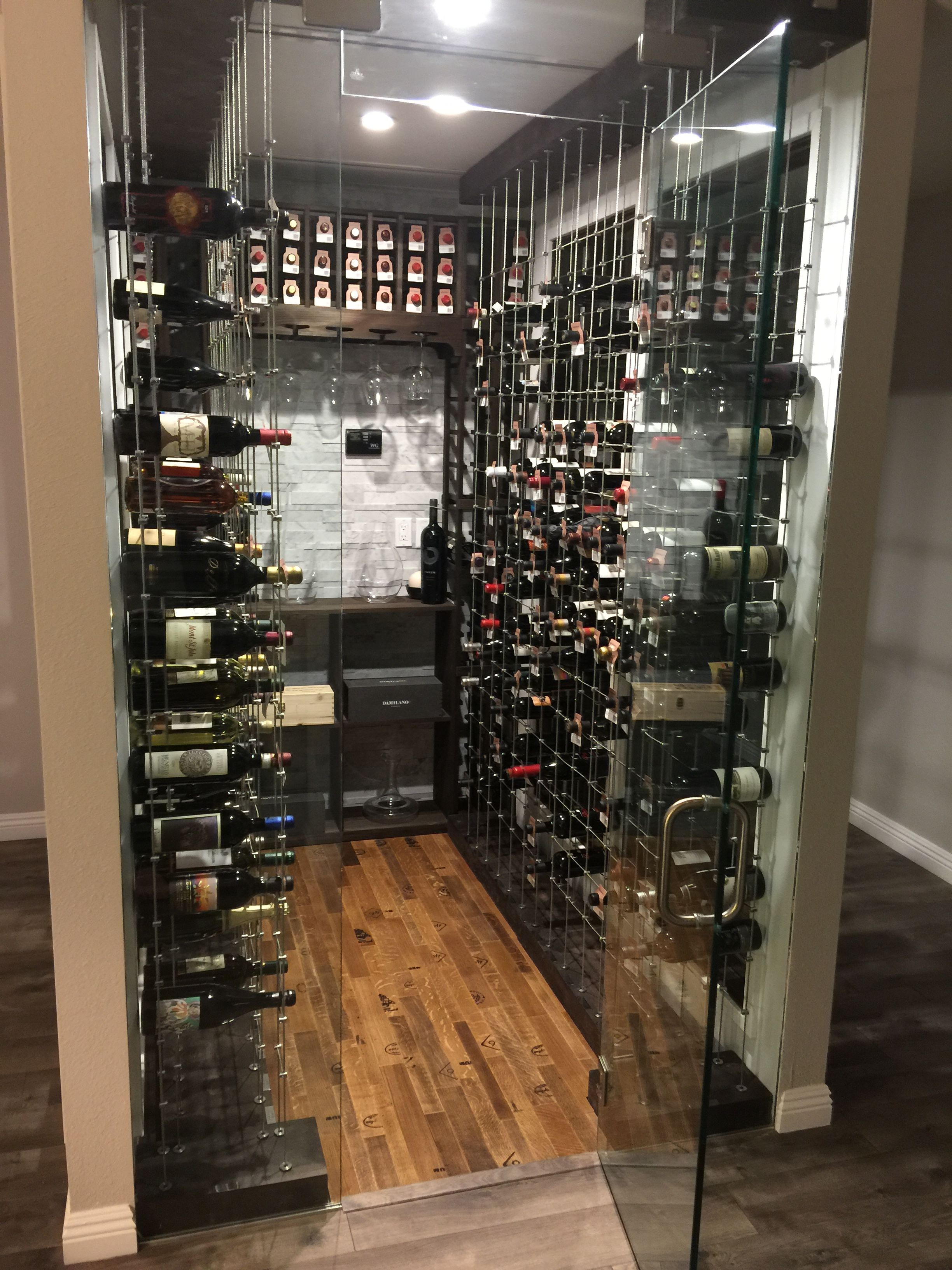 Wine Cellar Room With Glass Doors Wine Cellar With Cable Wine