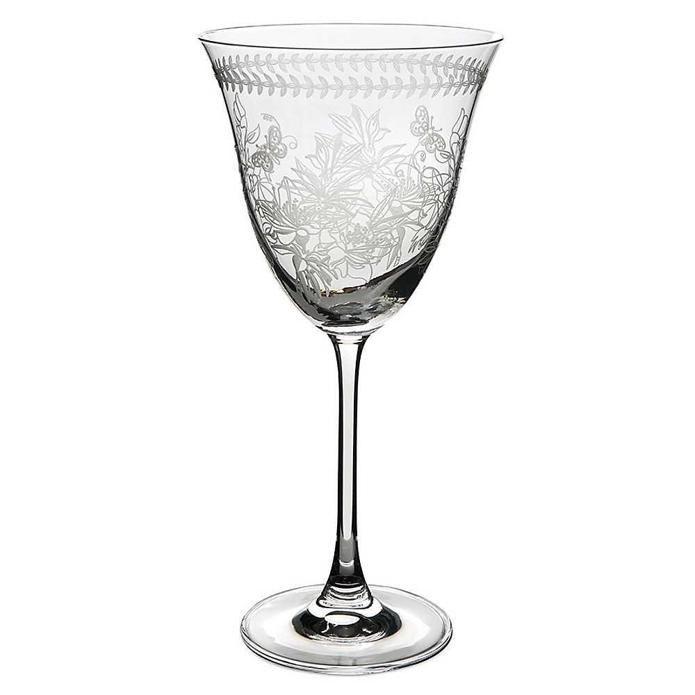etched wine glasses portmeirion botanic garden set of 4 etched glass wine glasses - Etched Wine Glasses