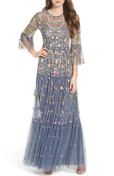 Needle & Thread Dragonfly Garden Beaded Tulle Gown available at #Nordstrom