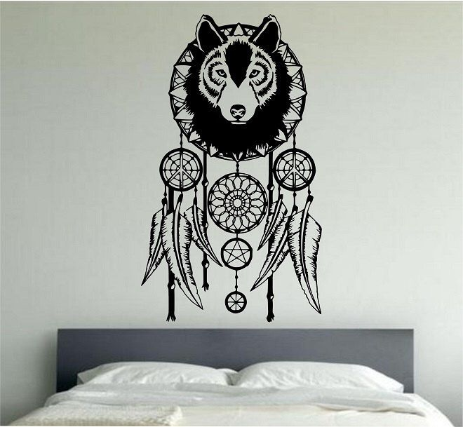 intérieur des... Tribal design dreamcatcher Mur Vinyle Art Décalcomanie pour home decor