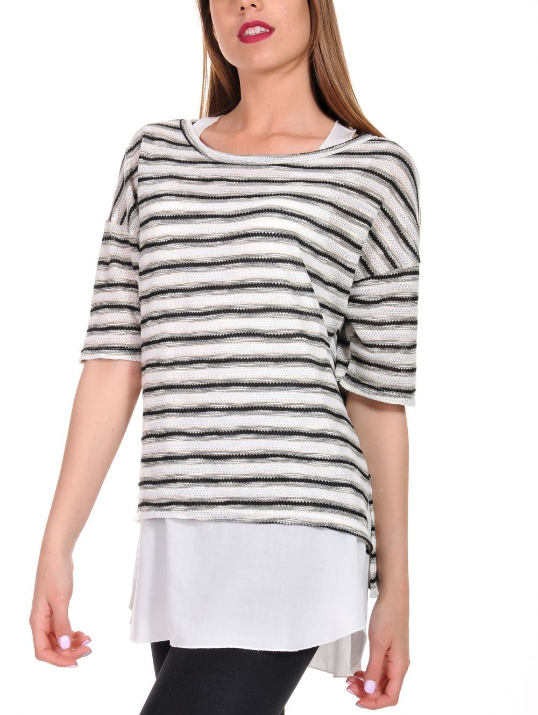 ca1567d035b S.OLIVER Φλάμα μπλουζάκι, διακοσμητική δαντέλα | Γυναικείες Μπλούζες ...
