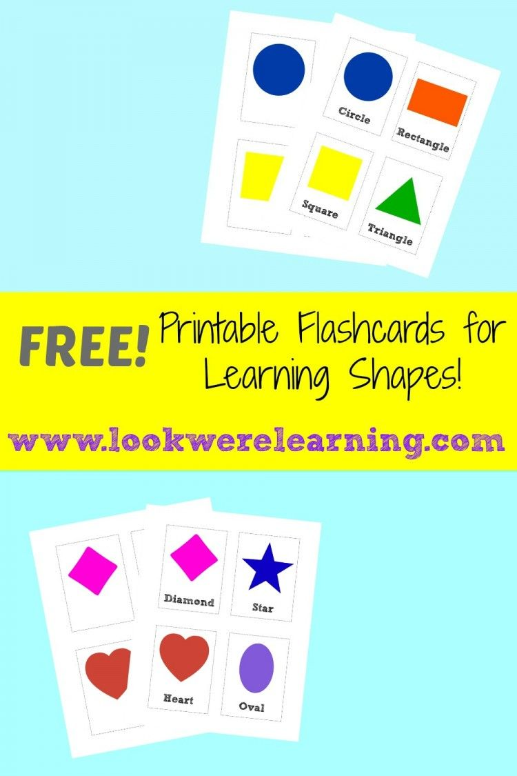 We're starting our new flashcard series today with a set of free printable flashcards shape cards - perfect for toddlers and preschoolers!
