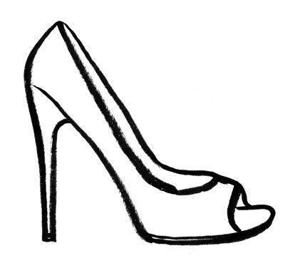 High Heels Woman Shoe Vector Clip Art Image Shoe Template Shoe Design Sketches Vintage Jewelry Art