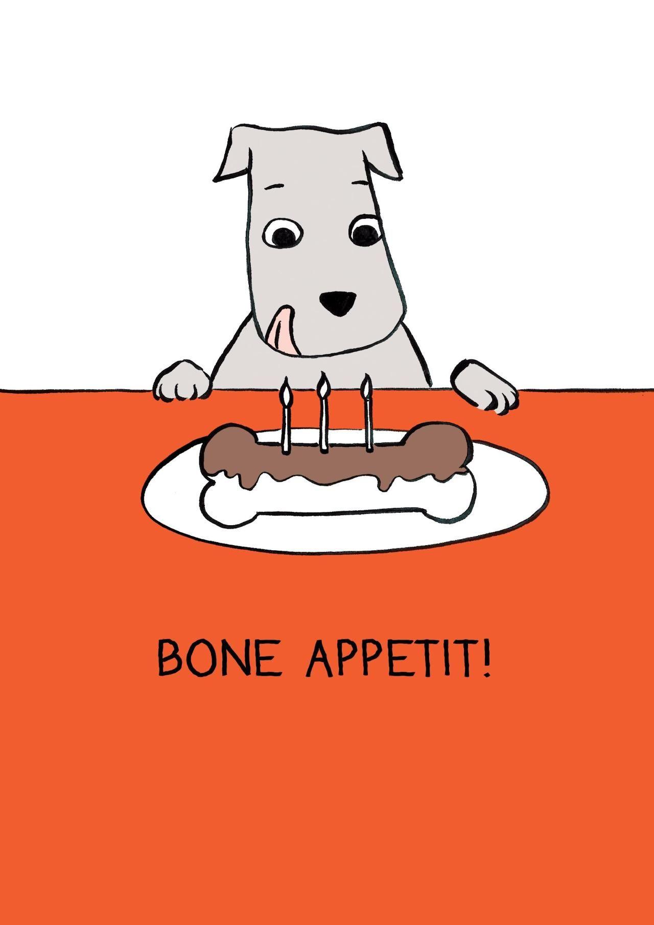 dog birthday card puns